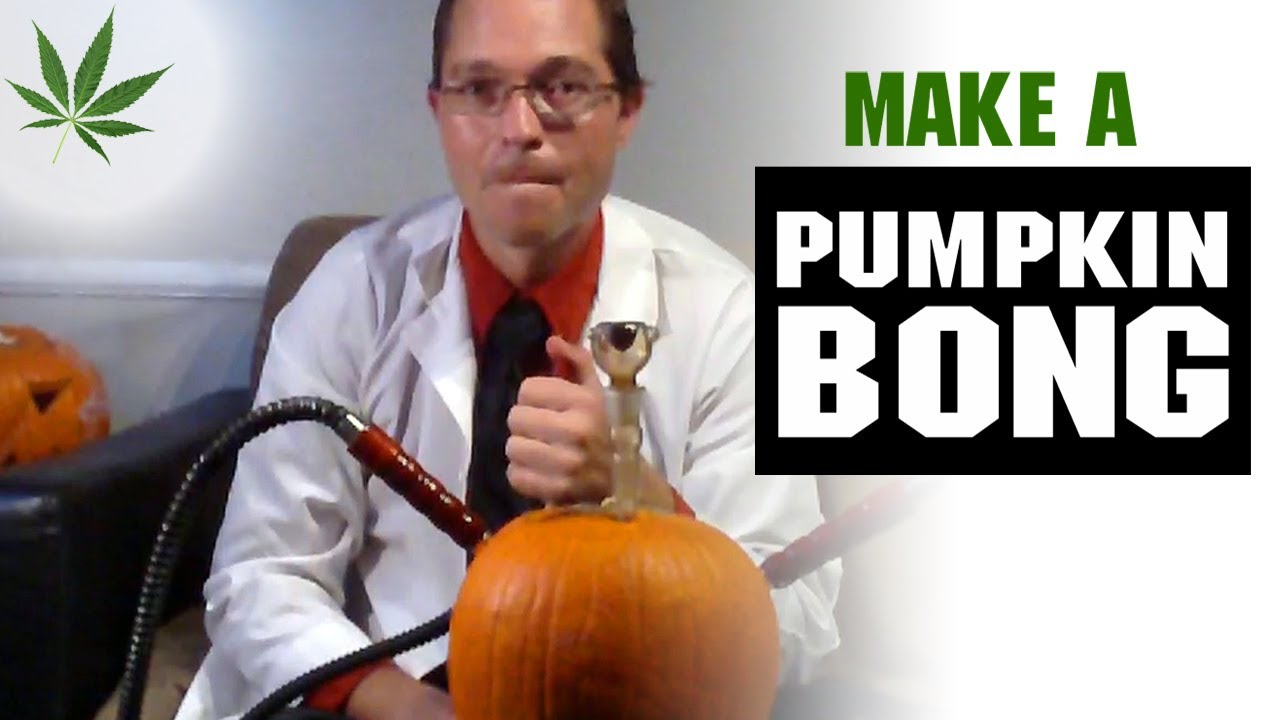 How to Make a Pumpkin Bong Hookah Marijuana Tricks & Tips w/ Bogart #14