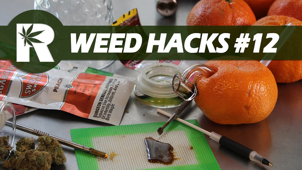 Weed Hacks #12: No Smell Edibles, Make a Tangerine Bubbler Pipe & Re-moisten a Blunt
